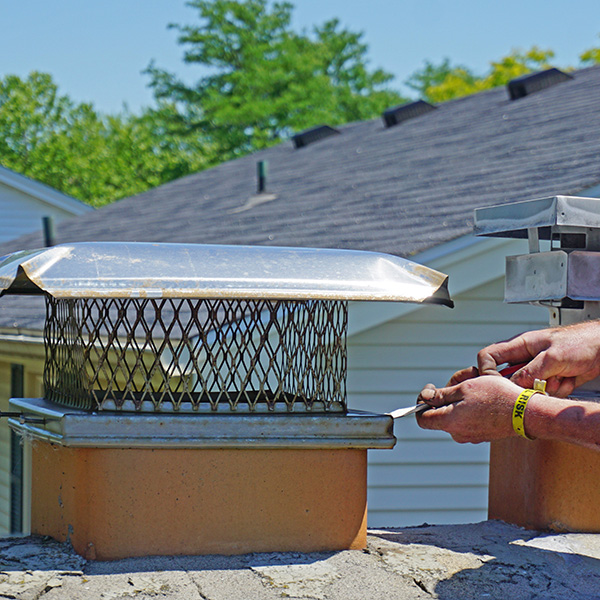 chimney cap install in Brookline MA